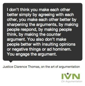 engage the argument